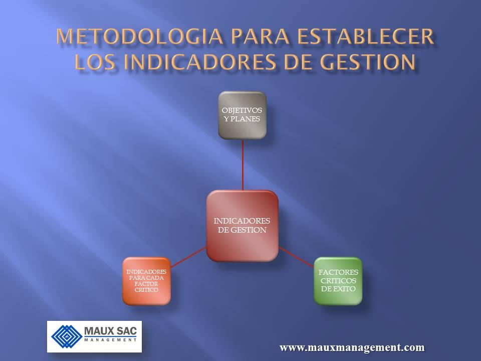 METODOLOGIA PARA ESTABLECER INDICADORES DE GESTION